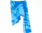 Blue cotton scarf- 40% SALE - reserved