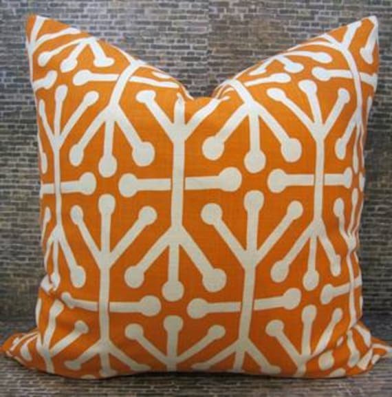 Designer Pillow Cover 18 x 18 - Tribal Mandarin -