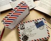 Air mail vintage tin/ can/ box