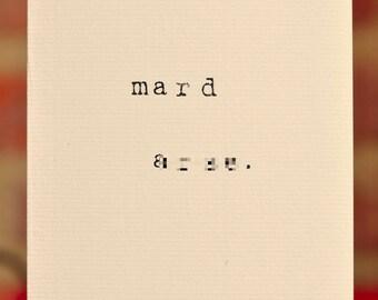 Mardy Mabel Card: mard ar-se