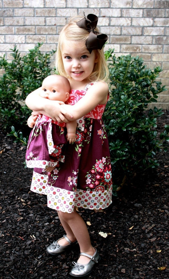 Plum knot dress 6months - 5 years