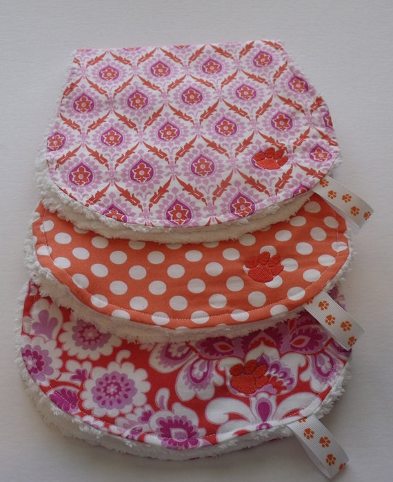 Burp Cloths - Tiger Collection - Tiger Paw set of 3