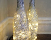 1 Glitter Lighted Wine Bottle, Wine Bottle Lamp, Bar Light