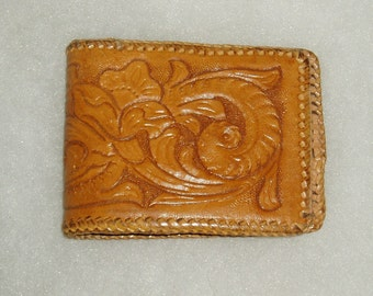Tooled Leather Wallet, Vintage