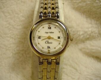 Vintage 1980s Sergio Valente Classic Quartz  Watch
