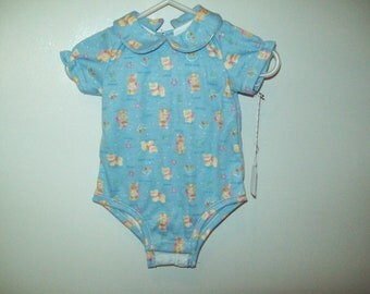 Onesie, Teddy Bears on Blue, only 2 left, shower gift, Ready to Ship, Clearance Sale