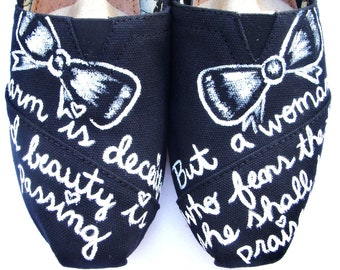 The Beauty - Black and White Custom TOMS