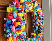"20"" Rainbow Birthday Party Celebration Balloon Wreath"