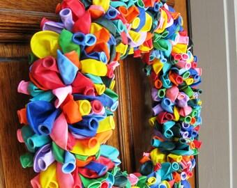 "20"" Rainbow Birthday Party Celebration Balloon Wreath"