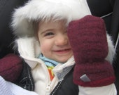 Woolen Baby Mittens / Wool Thumbless Mitts Toddler