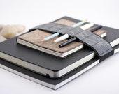 Large Journal Bandolier // a better pen holder // grey wave