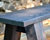 Rustic Burnt Bench - 6' --- 2 of 2