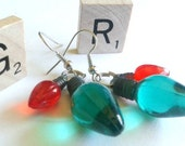 Perfect Holiday Earrings Green and Red