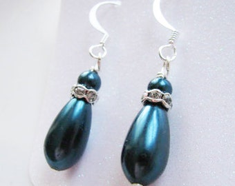 Great Bridesmaids gifts Swarovski Pearls  on Sterling Silver Plated Ear wires