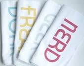 Mod Geekery Cloth Hand Towel Napkins - Set of FOUR