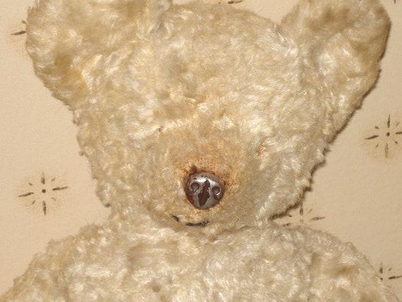 SALE - 1930s Tin Metal Nose Mohair Teddy Bear - Antique - Old - Vintage - Collectible