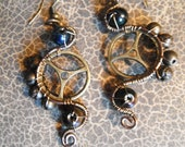 Steampunk Gear Dangle Earrings - MatchlessDesigns