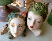I Loved Vintage Chalkware Before Loving It Was Cool Vintage Mermaid Chalkware Wall Pockets
