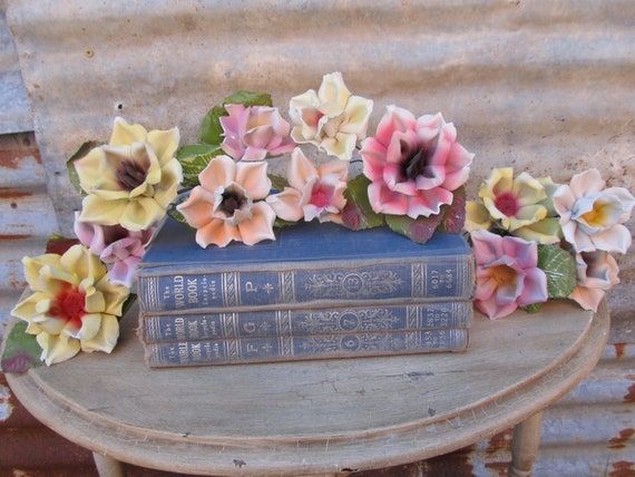 Vintage Porcelain Flowers Speak To The Heart Even With Their Chips And Worn Look