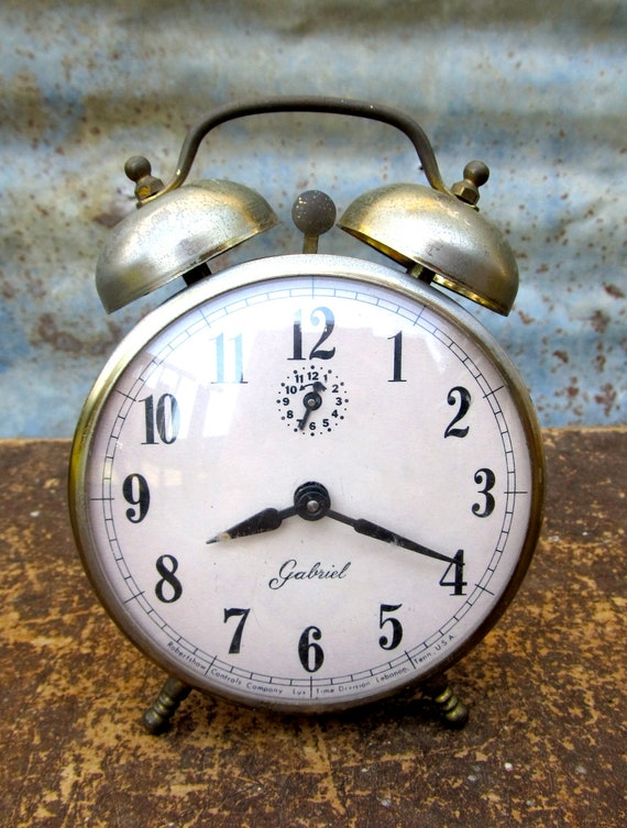 This Vintage Gabriel Alarm Clock Is A Real Looker With Its Large Alarm Bells