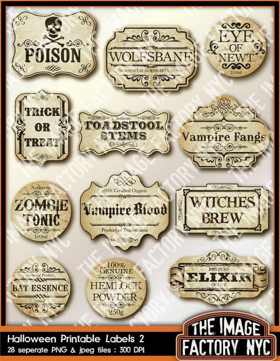 Halloween Printable Frames und Etiketten für alle Ihre