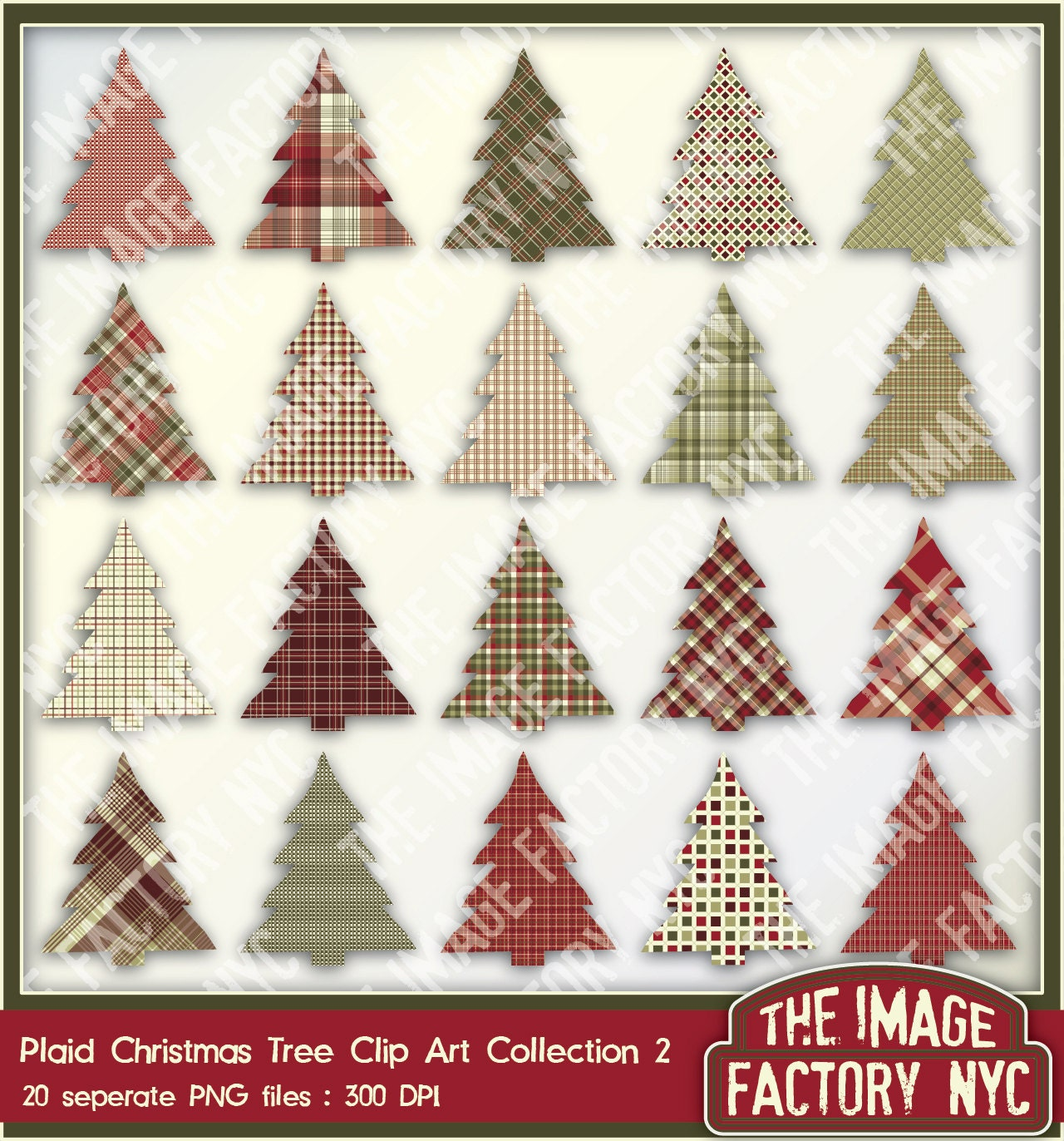 Christmas Tree Collection Portsmouth : Plaid christmas tree clip art elements collection download and