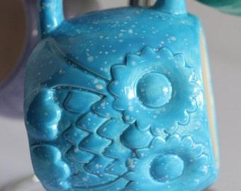 Blue Woodland Baby Owl Mug Handmade Ceramic from my Charleston, SC Studio