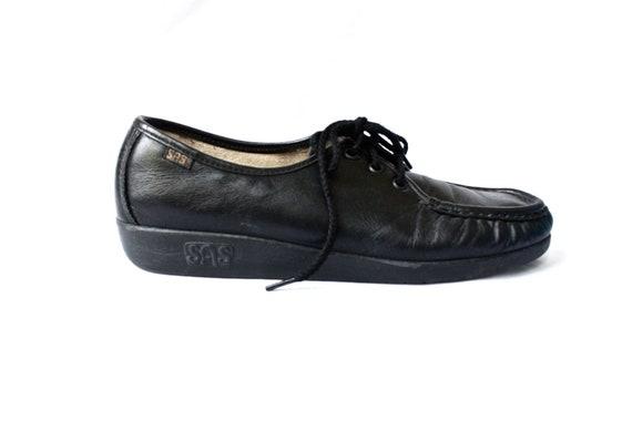 black SAS platform hand-sewn sneakers 8