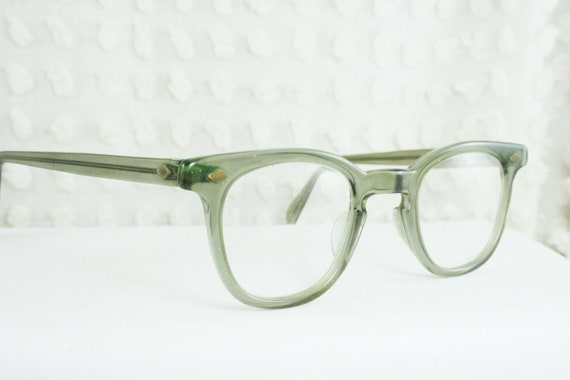 Glasses Frames Upload Picture : 1960s Mens Eyeglasses Vintage 60s Clear Gray Horn by ...