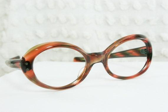 60s cat eye glasses 1960s tortoise eyeglasses brown by