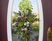 "Teardrop Vertical Spring Summer Door Swag Wreath Decor..""Springalicious"""