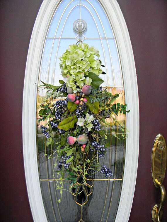 "Teardrop Vertical Spring Summer Door Swag Wreath Decor..""Springalicious"""