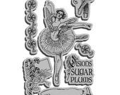 Nutcracker Sweet 2 - Cling Mounted Rubber Stamps from Graphic 45 & Hampton Art - redfinchstudio