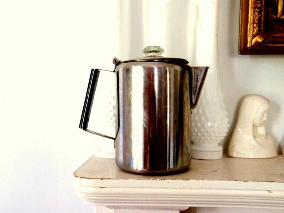 Antique Percolator Coffee Maker : Stove Top Percolator Antique Coffee Maker Glass Knob