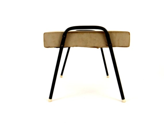 Mid Century Stool Vintage  Chair Antique Stool Atomic Furniture