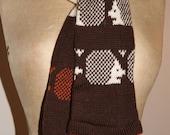 Hedgehog design knitted scarf
