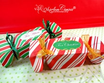 Candy Favor Boxes, Christmas candy favor boxes, Printable favor box, Gift, Printable Box, Christmas Decoration -Printable   INSTANT DOWNLOAD