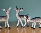 Three Porcelain Deer
