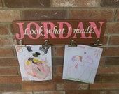 Look What I Made Personalized Sign - Hand-Painted, Solid Wood, No Vinyl, Brag Board, Art Display