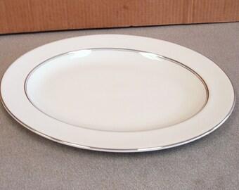 ROYAL DOULTON England Translucent Porcelain ARGENTA Pattern Serving Platter Tray.