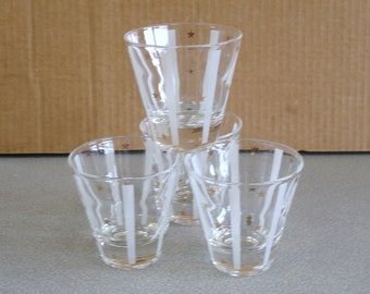 Set of 4 GUY FAD Beverage Goblets Tumblers Glasses.