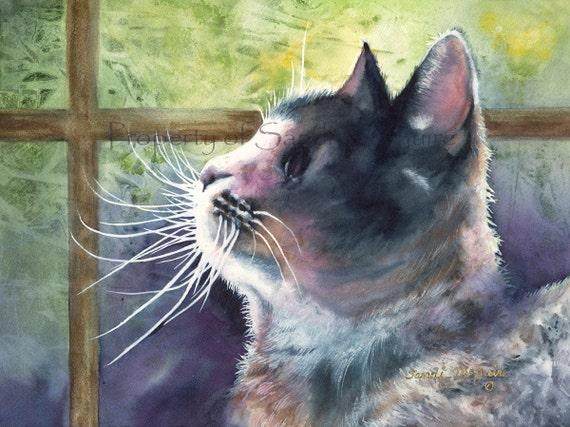 "Watercolor Print ""Sunlover"" by Sandi McGuire"