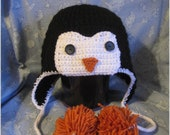 Penguin Hat Adult size Made to Order for Summer