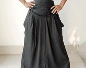 Convertible Dress 4 in 1 Skirt/Pant/Dresses,Cotton Jersey Charcoal Grey Color.