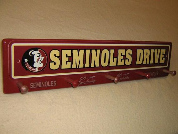 """Florida State """"Seminoles"""" coat rack """" hangup """""""