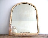 Antique White Framed Mirror - Wall Mirror with Wood Frame, Distressed, Industrial, Vintage