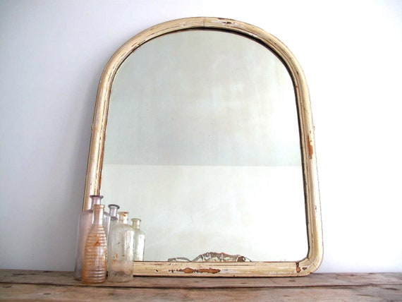 Antique White Framed Mirror Wall Mirror With By