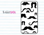 Black and White Mustache iPhone 4 Case, iPhone 4s Case, iPhone 4 Cover, Hard iPhone 4 Case - Mustaches