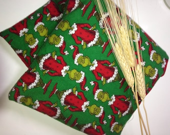 All Natural Wheat Berry Microwave Hot & Cold Pack - Grinch Dr. Seuss