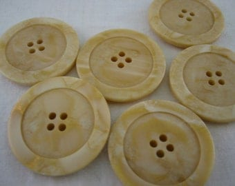 "Beige Button Large 4 hole Lot of 4   diameter is 1 3/8"".(Extra Large)"